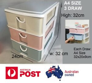 a4 3 tier drawer filing unit color storage cabinet office furniture