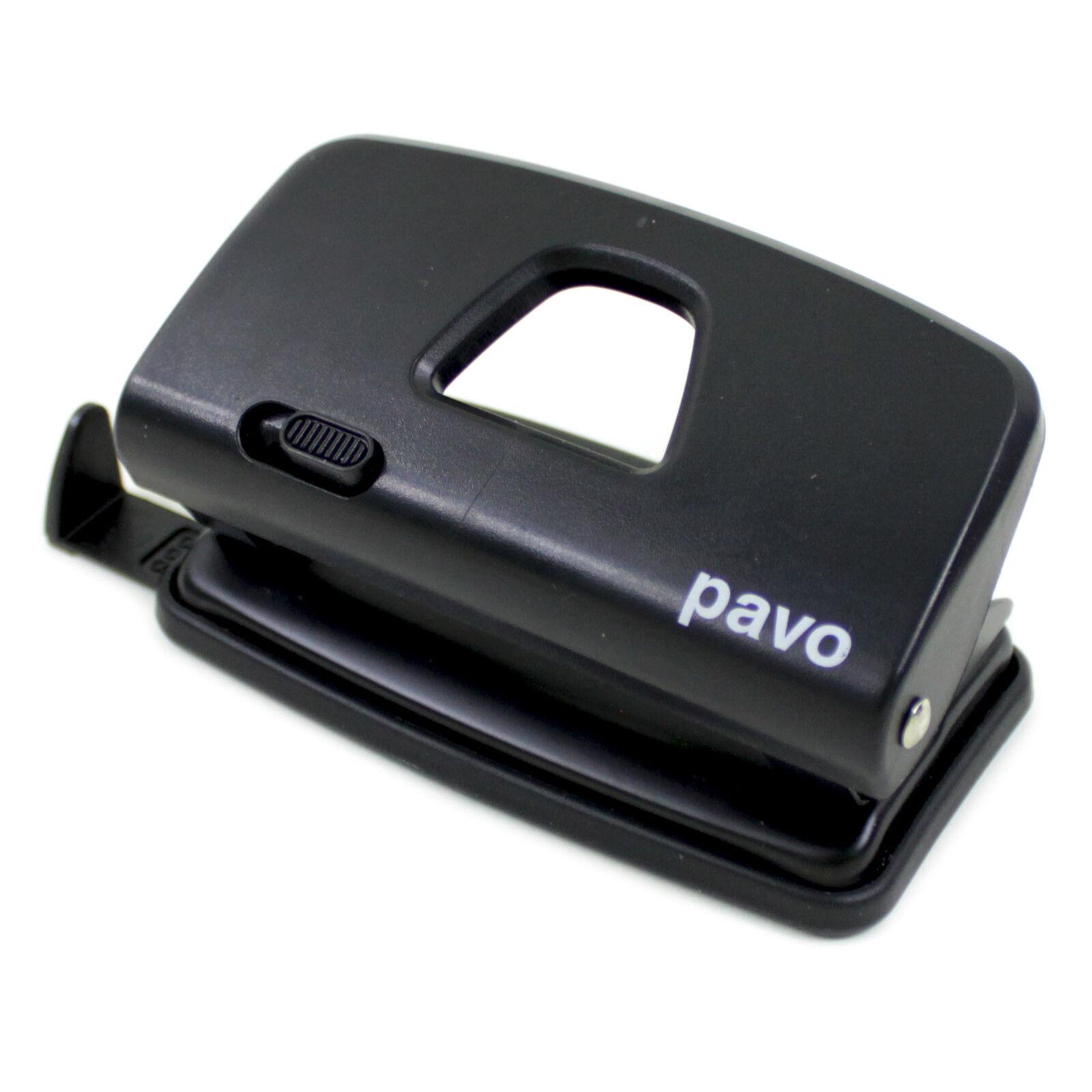 Stanzleistung: 10 Blatt Bürolocher schwarz Locher pavo