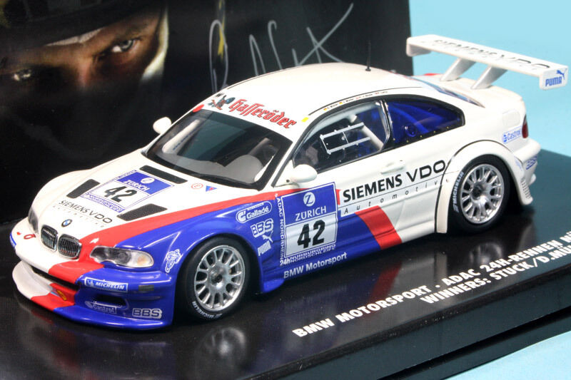 BMW M3 GTR H NURBURGRING 2004 STUCK MULLER LAMY MINICHAMPS 444042342 1 43