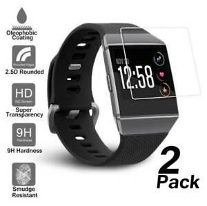 2x-TPU-Anti-Scratch-Tempered-Glass-Screen-Protector-Film-For-Fitbit-Ionic-Watch