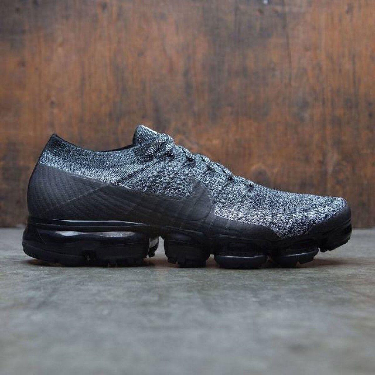 Nike Vapormax Flyknit Black White Oreo Size 7.5. 849558-041 air max 2018 90 97