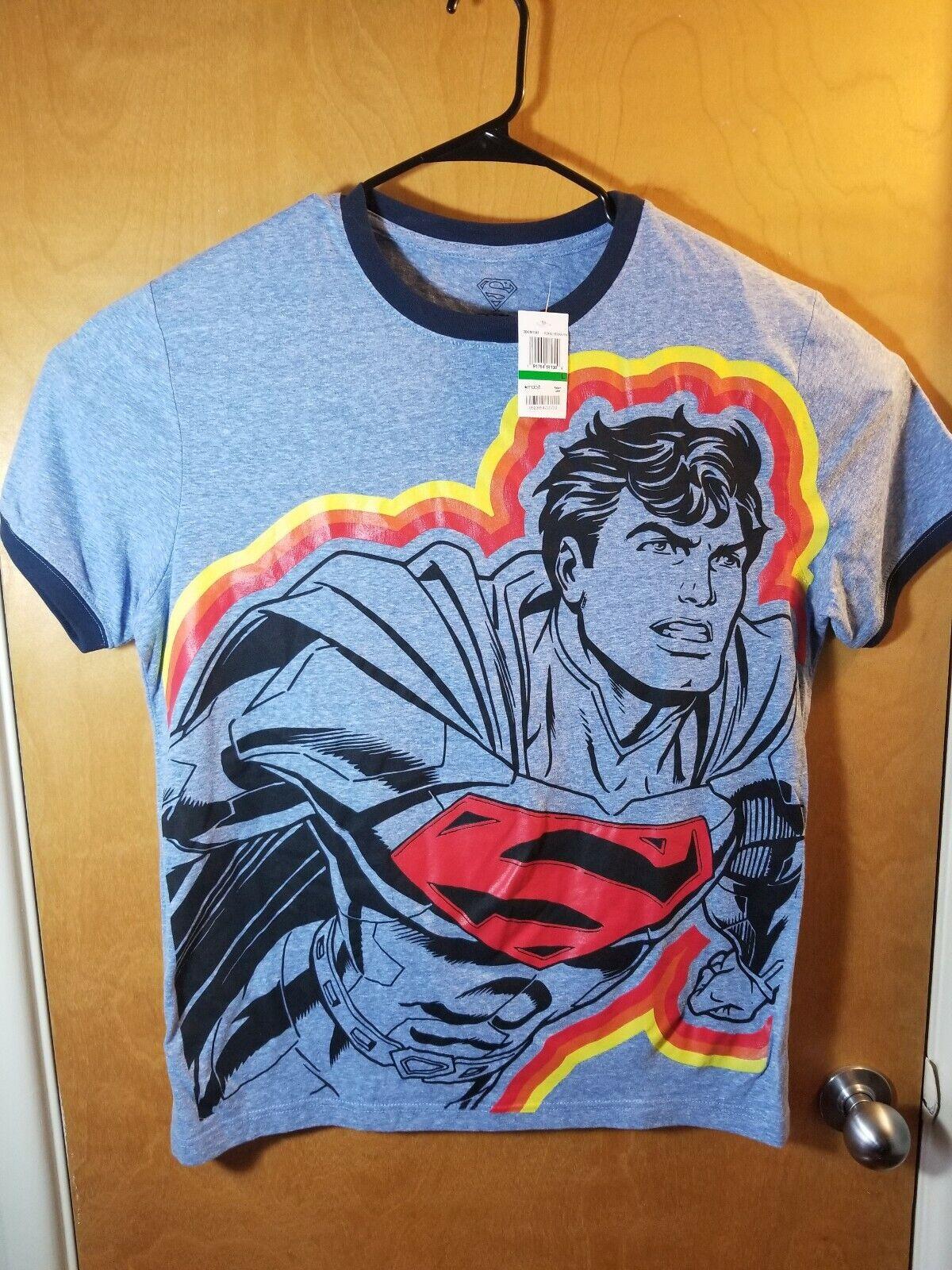 Superman Mens Lg bluee Short Sleeve Graphic T Shirt Nwt