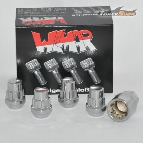 Felgenschlossmutter Kegel ges M12x1,5 mm für Mazda 2 3 5 6 121 I 121 II 121 III