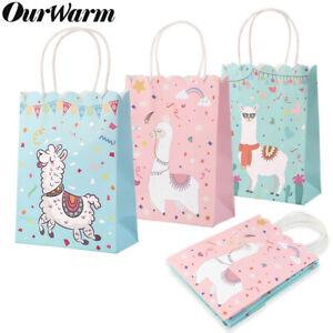 5x-Alpaca-Llama-Parti-Sacs-Candy-Traiter-Sacs-Cadeau-Anniversaire-Baby-Shower-Fournitures