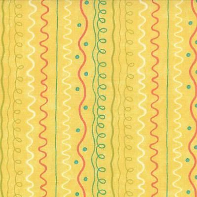 Chance of Flowers Priced Per ½ Yard 17768-25 Fun Stripe Yellow Sandy Gervias