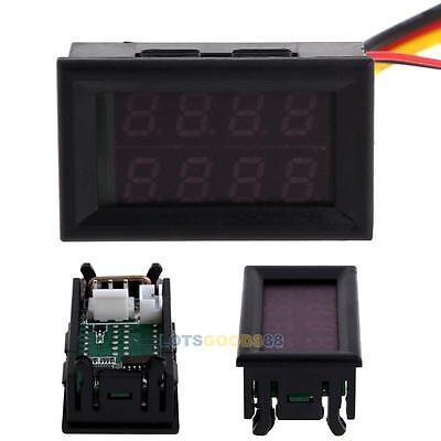 New Dual LED Digital Voltage Current Display Voltmeter Ammeter Panel Gauge LS4G