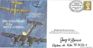 MF7 WW2 RAF Avro Lancaster Battle of Hamburg 12 Sqn cover signed PURSLOW DFC