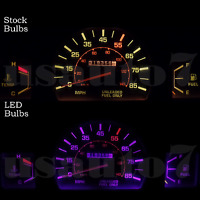 Dash Cluster Gauge Purple Led Light Bulbs Kit Fits 79-88 Toyota Pickup Truck