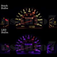 Dash Cluster Gauge Purple Led Light Bulbs Kit Fits 79-88 Toyota Pickup Truck