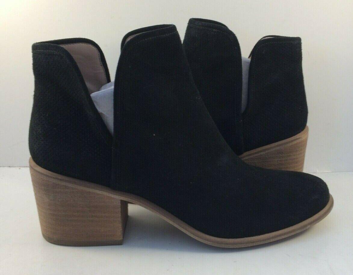 Hinge Black Suede Slip On Ankle Booties Womens Size US US US 9.5M e3eddc