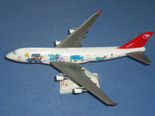 1 250 seltene NORTHWEST Boeing B747-400 WORLDPLANE 50 Years Briding the Pacific  | New Products
