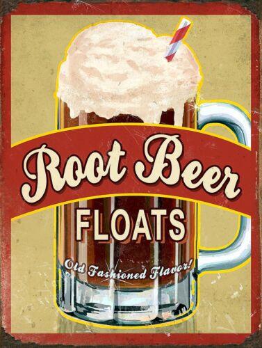 alcool Boissons Maison Root Beer Floats rétro vintage en aluminium SIGNE Cadeau
