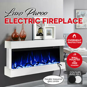 Astonishing Details About Luxo Electric Fireplace 1600W Heater Realistic Flame Wall Mounted Freestanding Home Interior And Landscaping Ologienasavecom