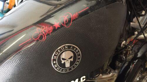 "6 Pack ALUMINUM Molon Labe Emblem 2nd Amendment Decal NRA Sticker 2.5/"" DOME"