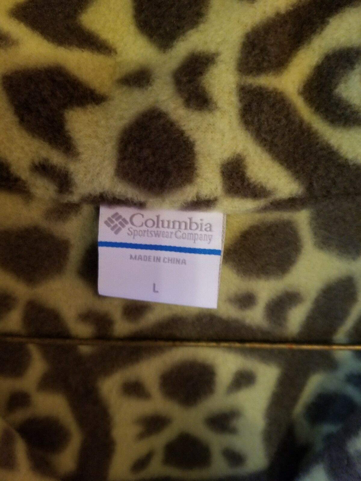 Columbia Womens Fleece Large Green Printed Jacket - image 4