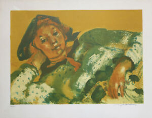 Lucien-Joseph-Fontanarosa-1912-1975-Harlekin-Druck-Venedig-Frankreich-Italien