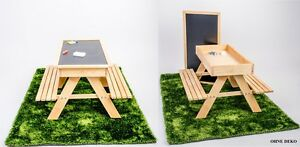 sandkasten kindersitzgruppe 4in1 kinder sitzgarnitur holz garten bank maltisch ebay. Black Bedroom Furniture Sets. Home Design Ideas