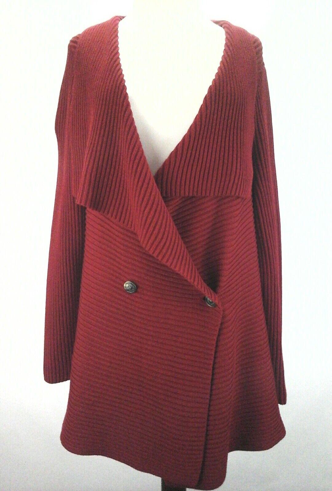 LAUREN RALPH LAUREN  NEW Draped Open Front rot damen Cardigan  Sweater 1X