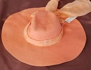 Image is loading Simply-Noelle-Floppy-Sun-Hat-with-scarf 95de6fa3bd7