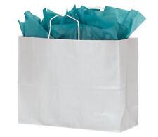 Paper Bags 100 White Kraft Shopping Handles Retail 16 X 6 X 12 High Large