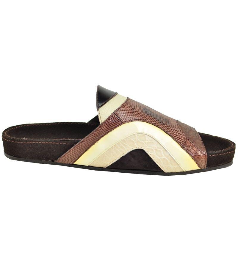 DOLCE & GABBANA Iguan Kroko Sandaleen Braun Sandales Braun Sandalees 01104