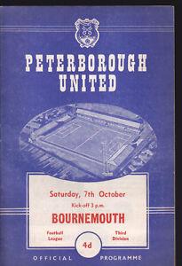 1961-62-PETERBOROUGH-UNITED-V-BOURNEMOUTH-07-10-1961-Division-3