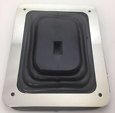 """Universal Hurst Style Rubber Shifter Boot With Chrome Plate 5 5/8"""" X 6 3/4"""""""