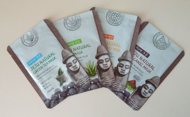 Jeju Natural Mask Sheet 16EA Korean Cosmetic Essence Moisture Facial Pack 4types