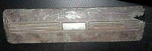 1940 FORD RADIO BLOCK OFF RADIO DELETE PLATE