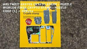 WORLD'S FIRST* CRYPTO STAMP - PUZZLE ★★★★★ BLACK / SCHWARZ | CODE [1] = 4QByka