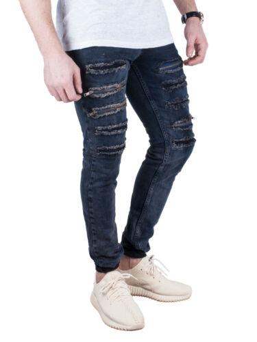 Jeans Used Fit Destroyed Herren Zipper Risse Hose Denim Skinny Biker Slim Cgnn5qXxU