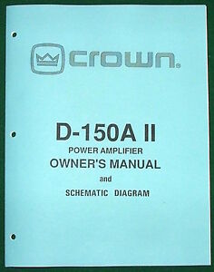 crown amp schematic electrical wiring diagram symbolscrown d 150a ii power amp\\u0027s owner\\u0027s manual w service schematicimage is