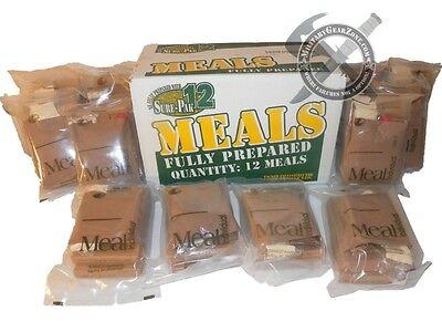 Sopakco Sure Pak 12 Military MRE Case Survival Disaster Emergency Preppers Food