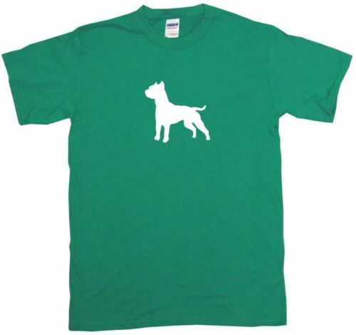 Staffordshire Bull Terrier Dog Silhouette Mens Tee Shirt Pick