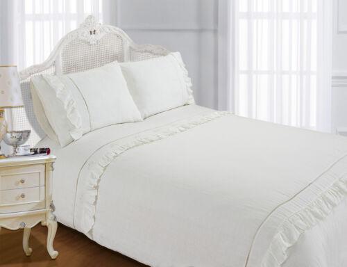 Exclusive Vintage French Linen 100/% Cotton Stone Wash Duvet Cover Bedding Set