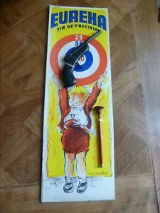 Plaque Cartonnee Poulbot De Jouet Cible & Pistolet A Flechette Eureka Complet