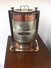 Antique Copper,Brass & Glass Electric Ship/Marine Boat Lantern Lamp No 983