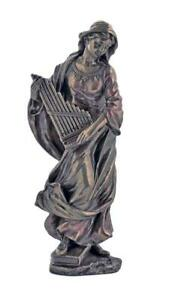 SAINT-CECILIA-Patron-St-Of-Music-Statue-Veronese-Catholic-Figure