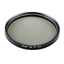 eTone Slim 62mm CPL Digital Circular Polarising Threaded For Universal Filter