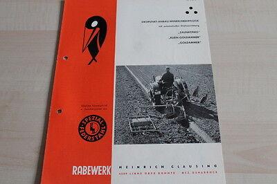 Willensstark 144256) Rabewerk Drehpflug - Zaunkönig & Klein - Goldammer - Prospekt 10/1962 Starker Widerstand Gegen Hitze Und Starkes Tragen