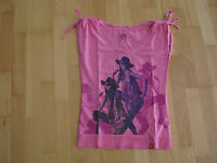 edc by Esprit Damen T-Shirt Gr. S pink rosa mit Motiv Stretch toller Style