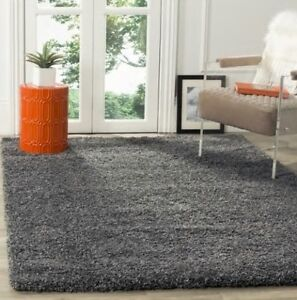 Solid Dark Gray Shag Area Rug Rugs 4 X 6 5 X 8 7 X 10 8 X 10 9 X 12