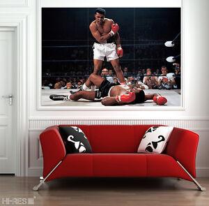 Giant Wall Art muhammad ali poster mual01 boxing legendary sports icon 50x35