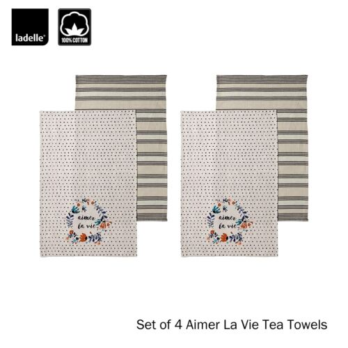 Apron Aimer La Vie Cotton Kitchen Range by Ladelle Tea Towel Choice Mitten