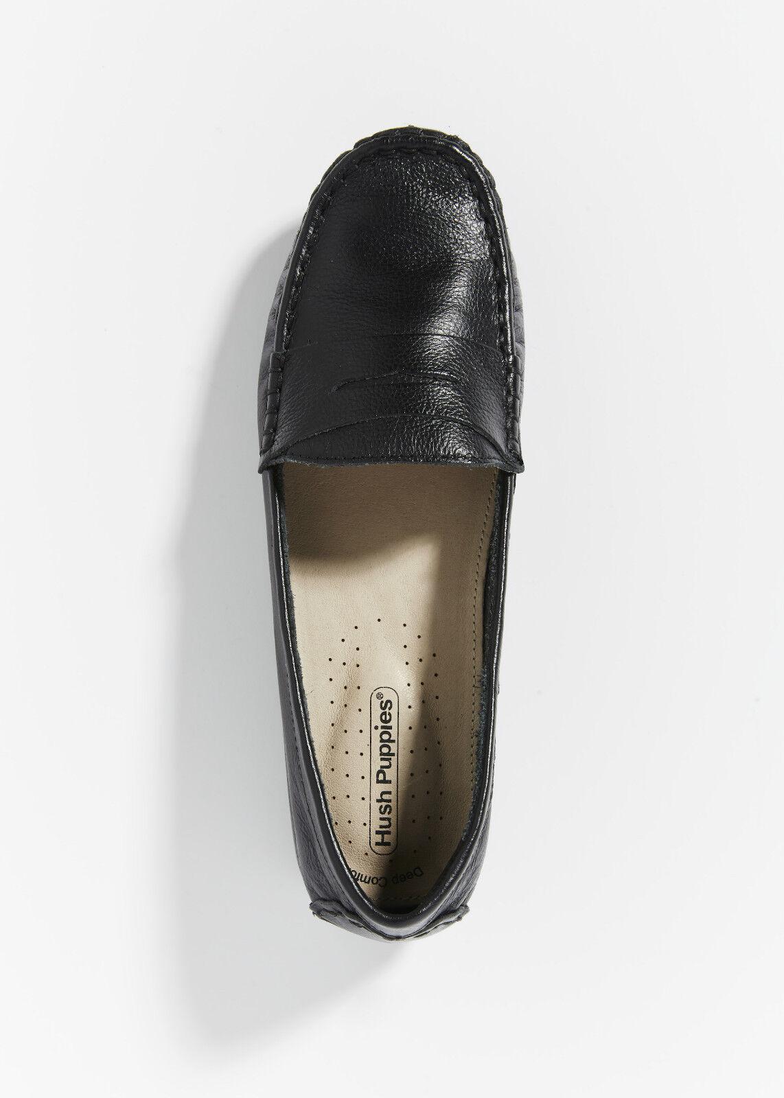 articoli promozionali Hush Hush Hush Puppies Amal donna Ladies nero Leather scarpe Flats Work Dress Casual  moda classica