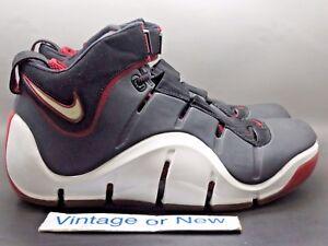 127a0bdab45 Nike Zoom LeBron IV 4 Black White Varsity Crimson 2006 sz 11.5