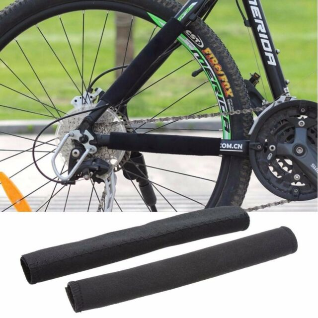 2 × Bike Cycling Bicycle Frame Chain Stay Protector Guard Nylon Pad Cover Wrap