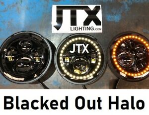 JTX-7-034-LED-Headlights-Blacked-Out-Halo-White-flashes-Amber