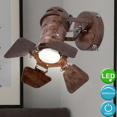 Wand Strahler Lampe verstellbar Spot Beleuchtung Vintage Wohn Raum Leuchte rost