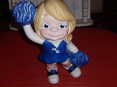 Vintage Fatto A Mano Dipinto Ceramica Scuola Superiore Cheerleader 26.7cm Pon Convenience Goods Sports Mem, Cards & Fan Shop
